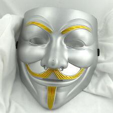 New V For Vendetta Anonymous  Guy Fawkes Fancy Falks Mask Multi Color Masque