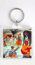 THE BAND MUSIC FROM BIG PINK 1968 LP COVER KEYRING LLAVERO