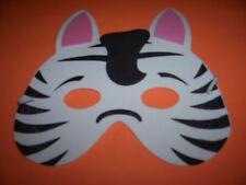 NEW Animal Zebra Foam Half Mask Halloween costume