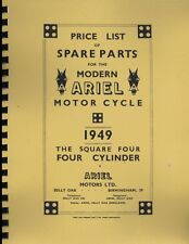 Ariel Motorcycle ~ Square Four ~ Parts List ~ 1949 ~ Reprnt