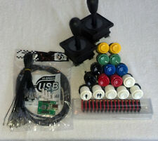 2 Player USB, mame, happ arcade parts kit includes: 2 4/8 joysticks, 16 buttons