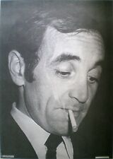 ORIGINAL POSTER VINTAGE ANNI '60 '70 CHARLES AZNAVOUR MUSICA PERSONALITY POSTERS