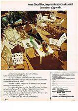 PUBLICITE ADVERSTISING  1973   GROSFILLEX  salon de jardin