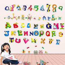 Kid's Boys Girls Babies Combo123 + ABC Nursery Room Children Wall Stickers paper