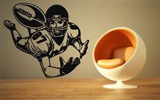 Football Wide Receiver Quarterback Super Bowl  Wall MURAL Vinyl Art Stickez843