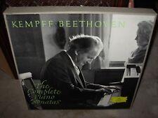 KEMPFF / BEETHOVEN complete piano sonatas ( classical ) 10 lp box dgg BIG TULIP
