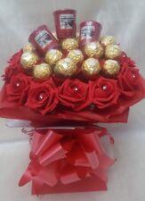 Ferrero Rocher Red Chocolate Bouquet & Yankee Candles  - Sweet Gift hamper