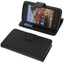 Tasche für Archos 40 Neon Smartphone BookStyle Schutzhülle Handytasche Schwarz