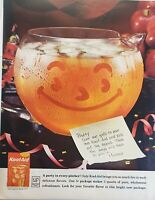 Lot of 3 Vintage 1962 KOOL-AID Drink Mix Print Ads Full of Fun and Flavor