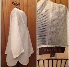 Vintage 1980s Maggie T Designer Oversize White Shirt Australia Made Plus Size
