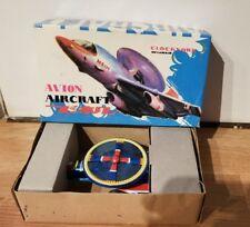 Vintage Avion Aircraft Plane Tin Toy Clockwork Wind Up With Box MS134