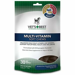 Vet's Best Multi-Vitamin Soft Chew Supplement for dogs 4.2 oz