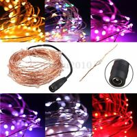 10M 100 LED Copper Wire Warm White String Fairy Light DC12V Christmas