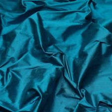 "Iridescent Teal Blue 100% Silk Shantung Fabric, 54"" Wide, By The Yard (SF-5113)"
