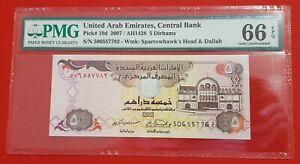 2007 UAE United Arab Emirates 5 Dirhams PMG 66 EPQ GEM UNC SPARROWHAWK'S HEAD