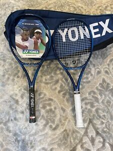 TWO YONEX E-ZONE 98 GRIP 4 1/4 WITH 9 PACK RACQUET BAG