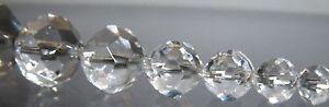 5 Kristall Perlen, 14 mm Ø, geschliffen, hochglanzpoliert. Bleikristall 30% PbO