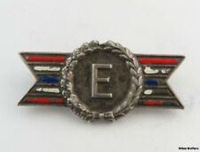 E FOR EFFICIENCY - Military Service Army Navy Sterling Silver Vintage Bar Pin