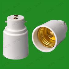 Bayoneta B22-E27 Rosca lámpara bombilla Socket Base Tapa Convertidor Adaptador Titular