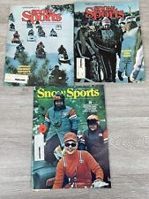 VINTAGE Snow Sports Magazine Lot of 3 1975-76 Good Shape
