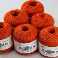 Sale 6 BallsX50gr Cotton Crochet Thread Yarn Craft Tatting Knit Embroidery 23