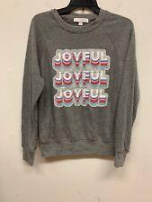 Spiritual Gangster  pullover Gray Women's  swearshirt new wild thing sz l s