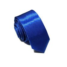 1 x mens ladies skinny tie blue narrow silk wedding birthday shirt suit party