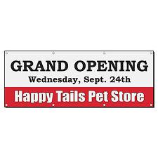 Grand Opening Animal Veterinarian Phone Custom Banner Sign 2' x 4' w/ 4 Grommets