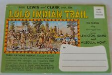 VTG LEWIS & CLARK Over the LOLO INDIAN TRAIL Travel Souvenir Folder 10 Pics Map
