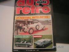 "** Auto Moto Retro n°70 Lamborghini Espada / Porsche 911S 2l / Saab "" Sonnet """
