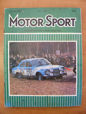 Motor Sport Magazine F1 Sports Road & Historic Cars Issue January 1974 Classic