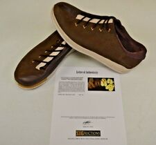 Converse Sample 3hree Brown Leather 14 DWAYNE WADE Personal Owned Shoes COA #10
