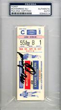 Muhammad Ali Autographed 2x4.5 Ticket Vs. Shavers 9/29/77 Vintage PSA 83940314