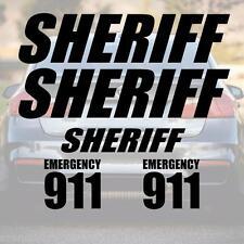 XXL SET SHERIFF Schriftzug Aufkleber Schrift Polizei police decal NYPD LAPD