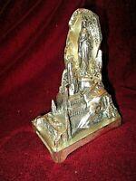 ancienne statue en alu-Vierge Marie-souvenir de Lourdes-peigne musical-Ave Maria