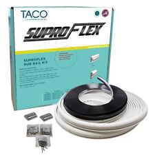 """TACO SuproFlex Boat Rub Rail Kit WHITE with Flex CHROME Insert 1.6"""" x .78"""" 60FT"""