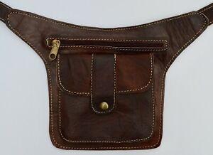 Organic Leather Hip Bag Bumbag Fanny Pack Crossbody Belt Moroccan **HANDMADE**