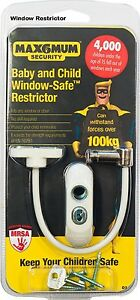 MAX6MUM Security Lockable Child and Baby Window & Door Restrictor Variations D7