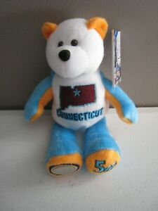 NEW JERSEY 3rd State COIN BEAR Bean Bag Plush by Limited Treasures 2009
