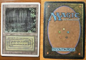MTG GAME 1x BAYOU REVISED EDITION - GOOD CONDITION