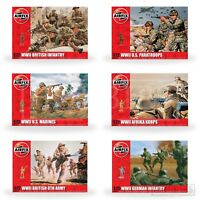 Airfix WW2 Figures 1:72 Model Kit 48 Army Soldiers British German US Infantry