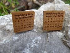 Boutons de Manchette Personnalisé: jour du mariage