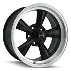 17x8 Ridler 675 5x4.75/5x120.65 0 Black Machined Lip Wheels Rims Set(4) 83.82