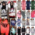 Women's Long Sleeve Hoodie Sweatshirt Hooded Jumper Pullover Sweater Tops Shirt