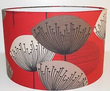 Sanderson Dandelion Clocks Red Drum Lampshade 20/30/40cm