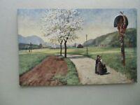 Ansichtskarte Künstlerkarte Elzach im Schwarzwald Tracht  (Nr.631)