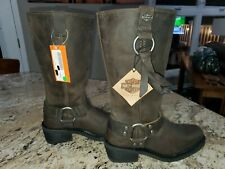 Harley Davidson Women's Leather Boots Fenmore Brown Size 7 NWOB Retail $200