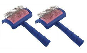 Blue Universal Slicker Brush Professional Dog Grooming Tool Choose Regular Size