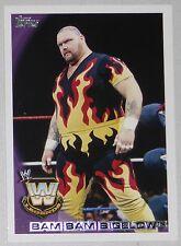 Bam Bam Bigelow WWE 2010 Topps Card #109 Wrestlemania Legend Superstar WCW ECW