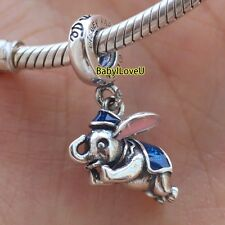925 Sterling Silver Disne Park Dumbo Elephant Charm Dangle Fit European Bracelet